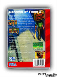 Streets Of Rage 2 GEN Genesis Game Case Box Cover Brand New ...
