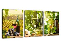 Wine And Grapes Kitchen Decor by Amazon Com Kitchen Art Canvas Prints Grapes Wine Bottles Pictures