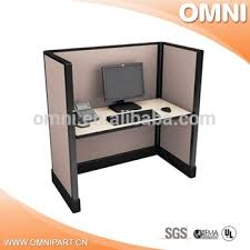 Single Ao2 Open Office Workstations Modular Wooden Panel Cubicle