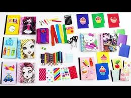 How to make DOLL SCHOOL SUPPLIES pencils calculator notebook