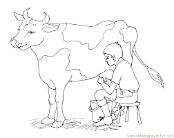 Animal Coloring Free Printable Coloring Page Milk Cow Mammals