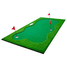 golf puttingmatte set 300x150cm kunstrasen