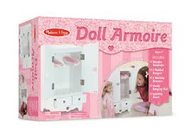 Amazon.com: Melissa & Doug 9384 White Wooden 20-Inches Tall Doll ... Kidkraft Darling Doll Wooden Fniture Set Pink Walmartcom Amazoncom Springfield Armoire Journey Girls Toysrus 18 Inch Clothes Drses Our Generation Dolls Wardrobe Toys For Kashioricom Sofa Armoire Kidkraft Next Little Kidkraft 18inch New Littile Top Youtube Chair And Shop Baby Here