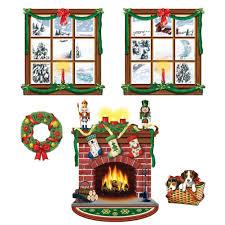 Halloween Scene Setters by Windows And Fireplace Scene Setters Set Of 5 Walmart Com