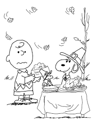 Click To See Printable Version Of Charlie Brown Thanksgiving Coloring Page