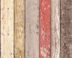 AS Creation New England Rustic Painted Wood Texture