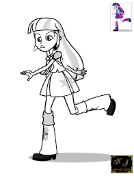 Twilight Sparkle Equestria Girls Coloring Pages 291067 Striking And Page