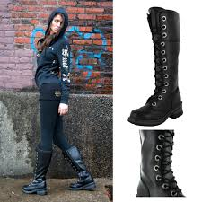 nana pole climber women u0027s combat boots lace up military demonia