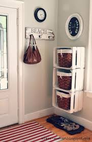 Entryway White Painted Crates