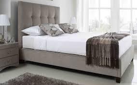 5ft King Size Kaydian Walkworth Mink Ottoman Fabric Bed Frame