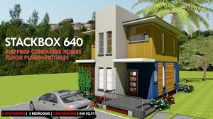 100 Homes From Shipping Containers Floor Plans Container HOMES PLANS And MODULAR PREFAB Design Ideas STACKBOX 640