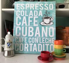 Cuban Coffee Art Canvas