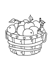 An Empty Apple Basket Colouring Page