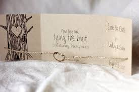 Rustic Tying The Knot Save Date Set Of 25 Card