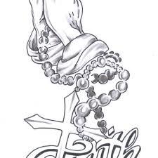 30 Best Praying Hands Tattoos Sketches
