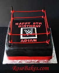 Wwe Cake Decorations Uk by Wwe Wrestling Birthday Cake