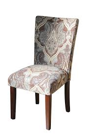 Purple Fabric Dining Room Chairs