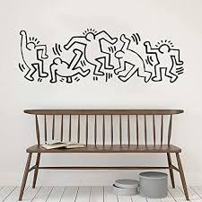 jxllcd graffiti stil vinyl wandaufkleber keith haring stil