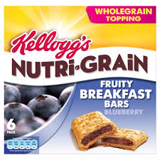 Kelloggs Nutri Grain Soft And Fruity Blueberry