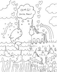 Unicorn Coloring Pages Rainbow New Free Color Page Printable Book