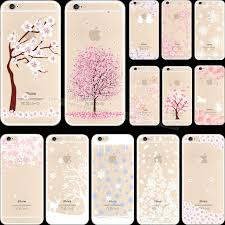 Pretty Painting Cherry Blossoms Silicon Phone Cover Cases For