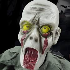 Confirmed Halloween Candy Tampering by Scary Halloween Ground Crawling Zombie Skeleton Animated Prop