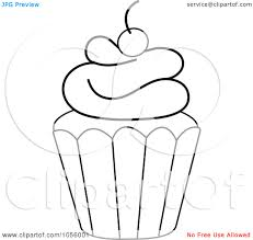 cupcake outline clipart black and white clipart panda free clipart R4wcPt clipart 7952