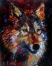 Wolf Wild Animal Art Original Oil Paintings Painting Fine By Debra Hurd