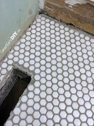 Polyblend Sanded Ceramic Tile Caulk Dry Time by Guest Bathroom 7 Diy Hex Tile Floor