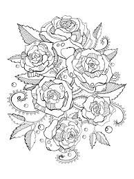 Download Roses Coloring Book For Adults Vector Stock