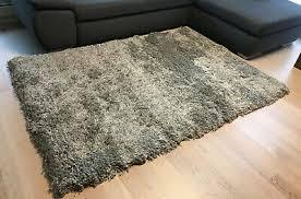 ikea gäser teppich 133 x 195 cm langflorteppich hellgrau