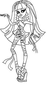Cleo De Nile Monster High Coloring Page