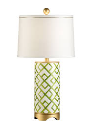 Frederick Cooper Porcelain Table Lamps by Chelsea House Bamboo Squares Lamp 68562