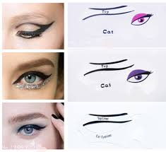cat eye template winged eyeliner stencil guide no mess cat liner