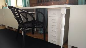 Ikea Study Desk With Hutch by Create A Diy Ikea Desk Using A Nipen Table Leg Linnmon Table Top