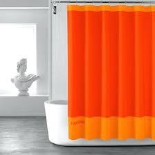 Orange Shower Curtains Fabric Orange Shower Curtain Curtains