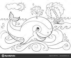 Dibujo De Ballena Medusa Y Peces De Arrecifes De Coral Para
