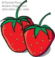 Clip Art Illustration of Strawberries