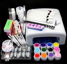 professional nail gel uv l pro 36w uv gel pink l 12 color uv gel nail tool kits sets