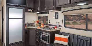 Rv Storage Ideas Kitchen Cabinet Inside A Motorhomes Full Time Living To Appliances Also Black Wall Decor