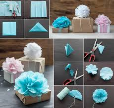 How To Make Tissue Paper Flowers For Gift Wrapping
