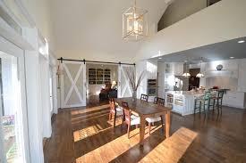 Barn Doors Modern Home Interior Open Floor Plan Kitchen Dining Room