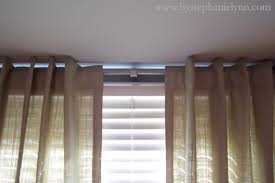 stylish make your own bay window curtain rod window treatments for
