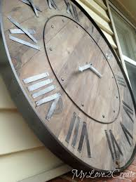 14 DIY Wall Hanging Projects - | Large Wall Clocks, Large Walls ... Amazoncom Outdoor Clocks Patio Lawn Garden Diy Sofa Table 2 Stools Painted With Coats Of Paint A Piece Sofa Barn Couch Amazing Pottery Sectional Sofas Couches 25 Unique Barn Hacks Ideas On Pinterest Decorating Awesome Mantel For Home Interior Design Is It Time For An Update Try Statementmaking Wall Clock Weve Bedroom Loft Beds Kids Expansive Bamboo Alarm Brown Stained Mahogany Wood Coffee Green Pattern Uniquehesdiyroomdecorpotterybarndskitchen