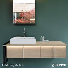 duravit vero countertop washbasin white without tap hole with