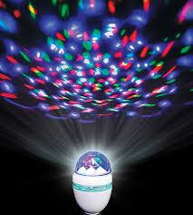 rotating disco led light bulb