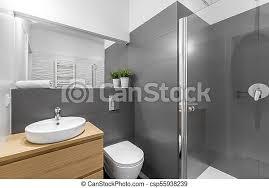 dusche badezimmer modern grau toilette badezimmer