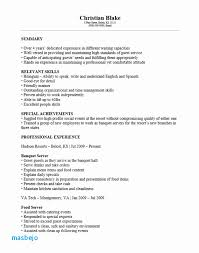 Banquet Server Resume Examples 39 Awesome