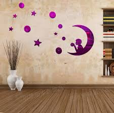 3d Stars Moon Space Art Mirror Acrylic Wall Stickers Paper Dining Room Ceiling Decorate Children Home Decor In From