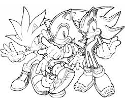 Shadow The Hedgehog Coloring Pages Getcoloringpages In Sonic Printable